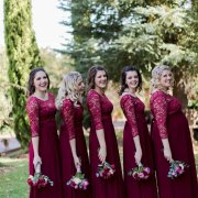 bridesmaids dressses, red