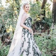 black and white, veil, wedding dress, wedding dress