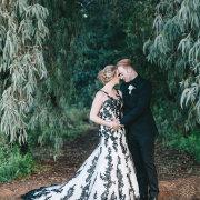 black and white, wedding dress, wedding dress