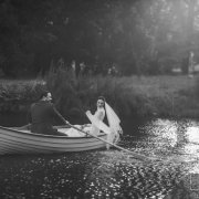 boat, bride and groom, bride and groom