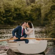 boat, bride and groom, bride and groom, kiss, kiss