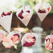 confetti, rose petals