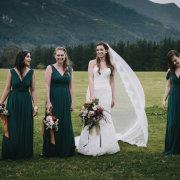 bridesmaids dresses, green