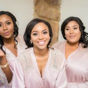 bride and bridesmaids, makeup, makeup, makeup