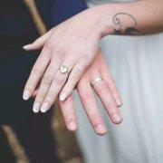 bride, groom, ring, wedding band