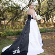 black, wedding dress