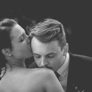 bride, kiss, love