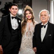 beaded, crown, earings, wedding dress