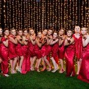 bridesmaids dresses, fairy lights