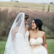 bride and briedesmaids
