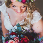 bouquets, bride, flower crown