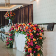 floral centrepiece, main table