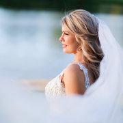 bride, hair, veil