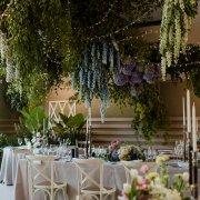 fairy lights, floral decor, hanging decor