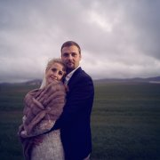 bride and groom, bride and groom, fur bolero