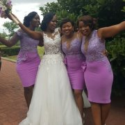 bridesmaids dresses, lace, purple, wedding dress