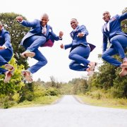 blue, groomsmen