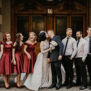 kiss, kiss, kiss, wedding party