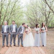 bridal party, grey