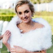 bridal accessories, fur bolero
