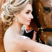 bride, earings, horse