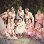 bridesmaids dress, flower girl, pink