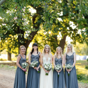 bridesmaids dresses, grey