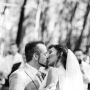 bride, first kiss, groom