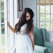 bride, dress, hair