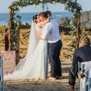 arch, beach wedding