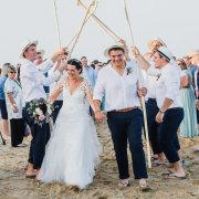 beach wedding, lace, wedding dress