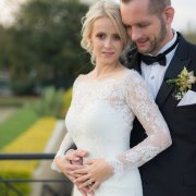 bride and groom, bride and groom, button hole, lace, lace, wedding dresses