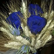 flowers bouquet, blue