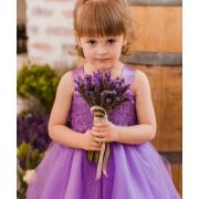 flower girl, purple