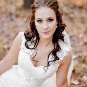lace, makeup, wedding dress