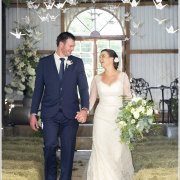 bouquet, suit, wedding dress