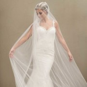 veil, wedding dress