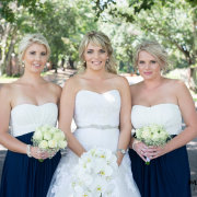 bridesmaids dresses, navy and white