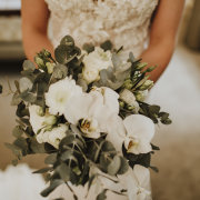 bouquets, green and white
