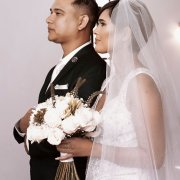 bouquets, bride and groom, bride and groom, veil