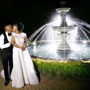 bride and groom, bride and groom, fountain, wedding dresses, wedding dresses