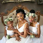 bride, flower crowns, flower girls
