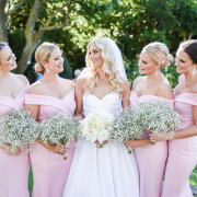 bouquets, bride and bridesmaids, bridesmaids dresses, bridesmaids dresses, pink