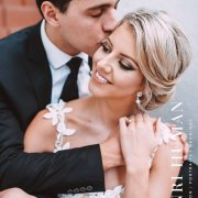 bride, groom, hair, kiss, makeup, makeup, kiss