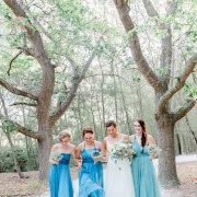 bride, bridesmaids, bridesmaids, forest
