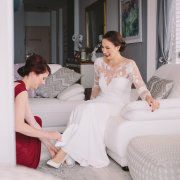 bride and bridesmaids, wedding dresses, wedding dresses