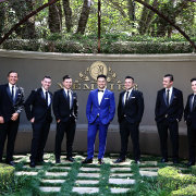 groom and groomsmen, suits