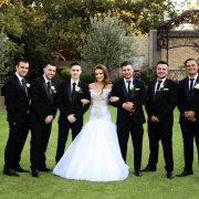 bride, groomsmen, suits