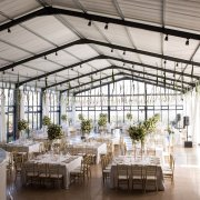floral centrepieces, hanging decor, wedding venue