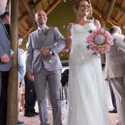 protea, wedding dress